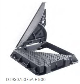 F900 Hinged triangular ductile iron covers and frames