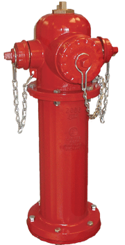 "WaterMaster 5 1/4"" BR fire hydrant design with 3-way-configuration and snow barrel"