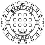 ej manhole covers and frames 30 X 24 Sign product 00102108